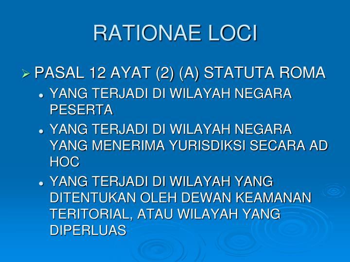 RATIONAE LOCI
