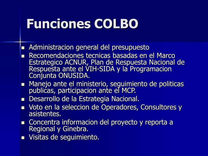 Funciones COLBO