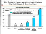 2002 college of physicians and surgeons of manitoba child health standards committee report
