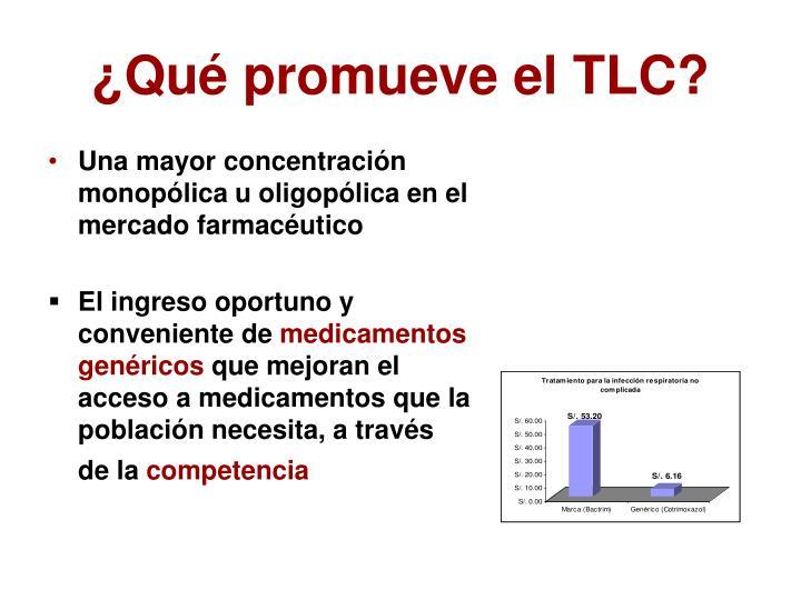 ¿Qué promueve el TLC?