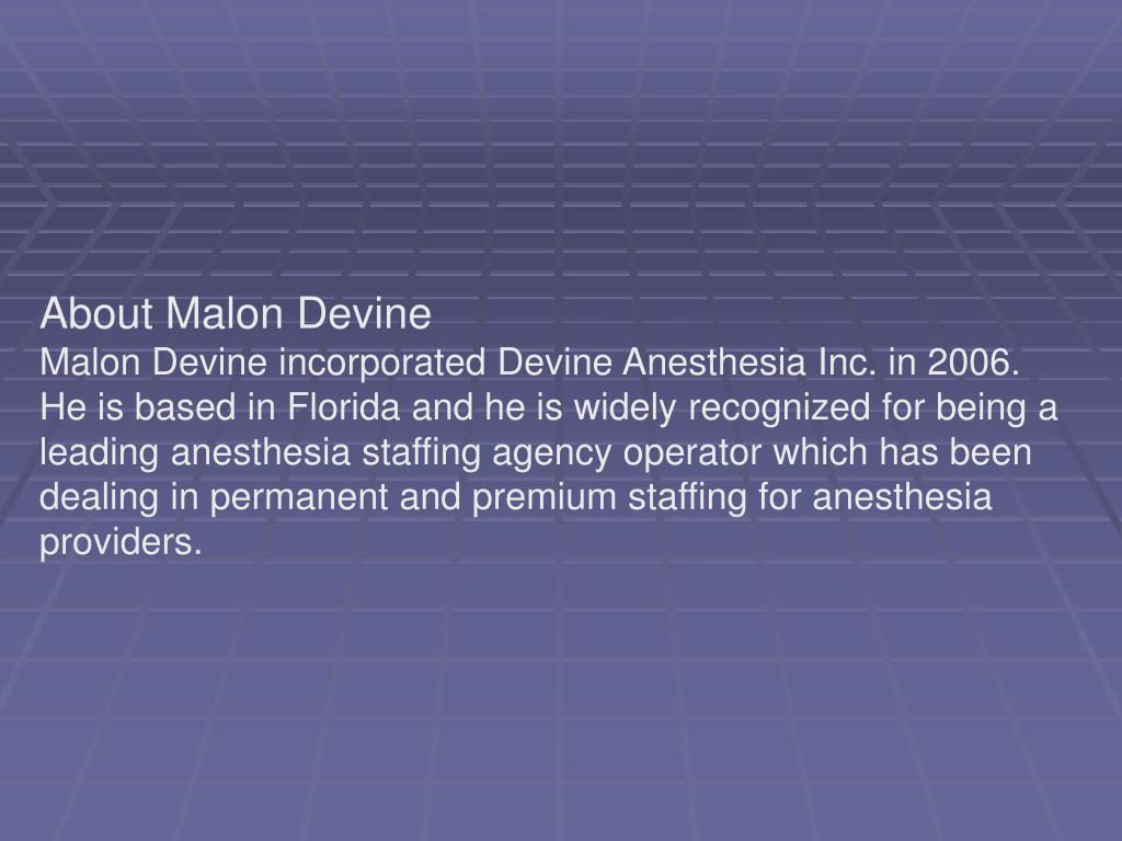 About Malon Devine