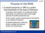 purpose of the dhin