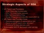 strategic aspects of sda