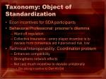 taxonomy object of standardization19