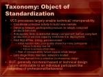 taxonomy object of standardization21