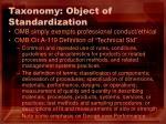 taxonomy object of standardization22