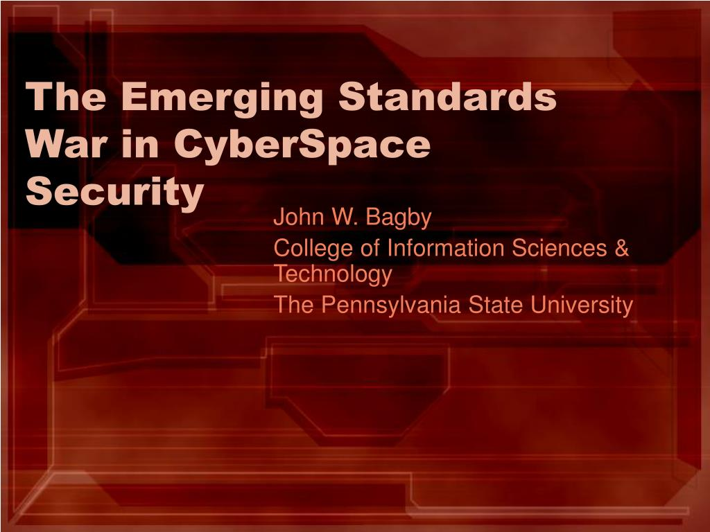 the emerging standards war in cyberspace security l.