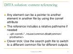dita solution content referencing