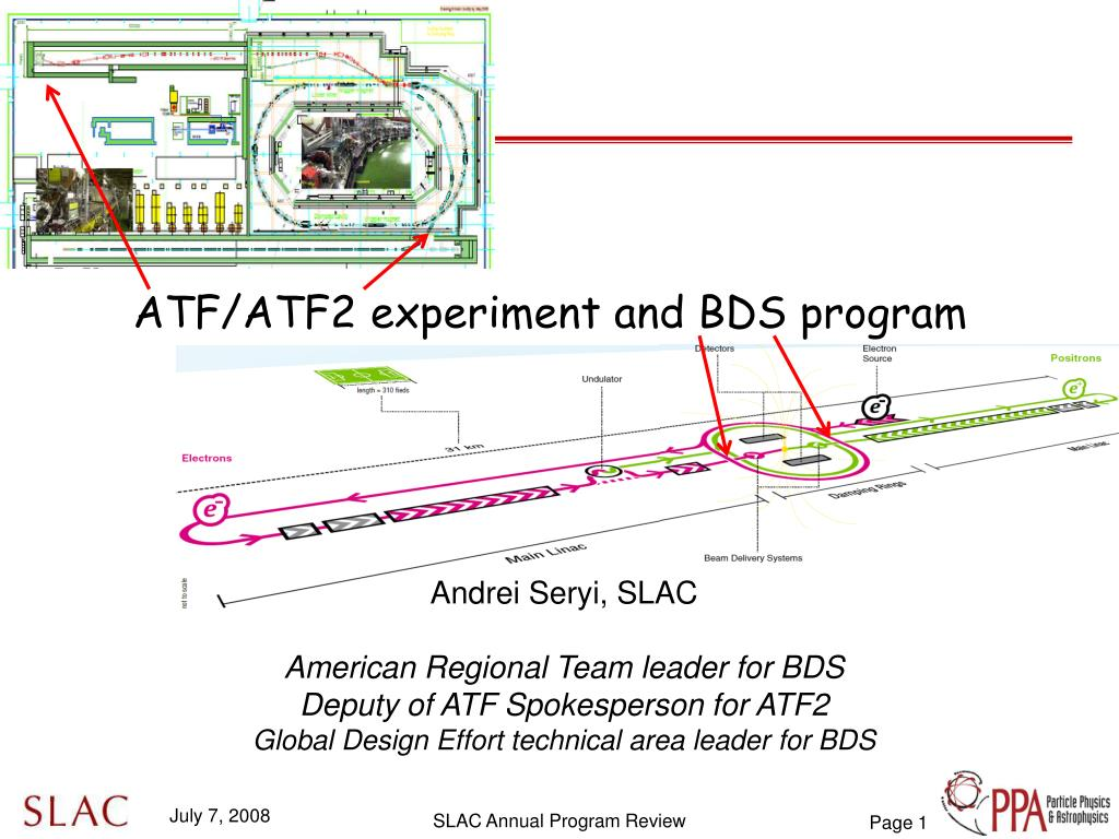 atf atf2 experiment and bds program l.