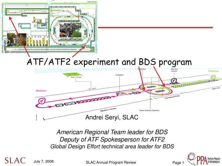 Atf atf2 experiment and bds program