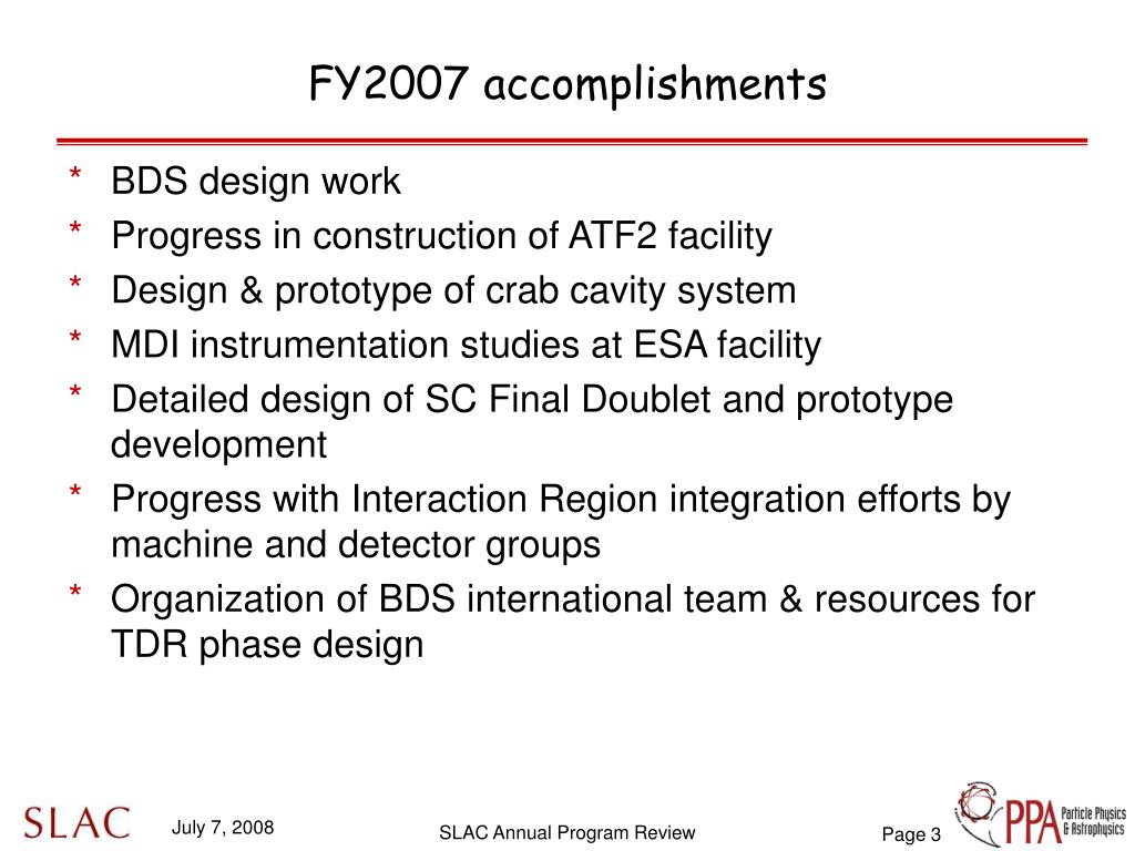 FY2007 accomplishments