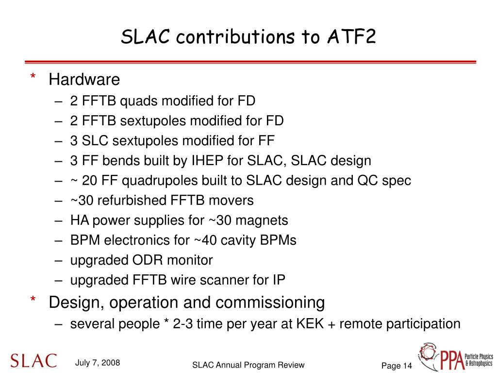 SLAC contributions to ATF2