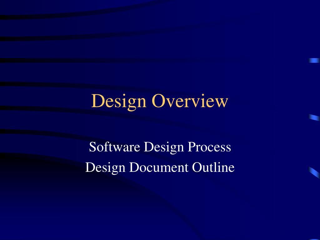 design overview l.