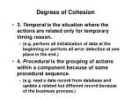 degrees of cohesion18