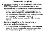 degrees of coupling
