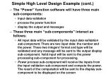 simple high level design example cont