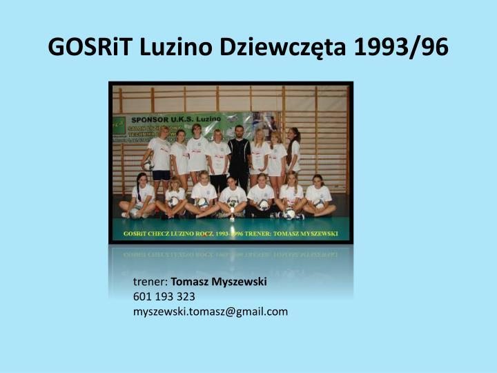 GOSRiT Luzino Dziewczęta 1993/96