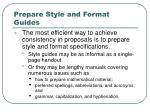 prepare style and format guides