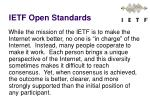 ietf open standards
