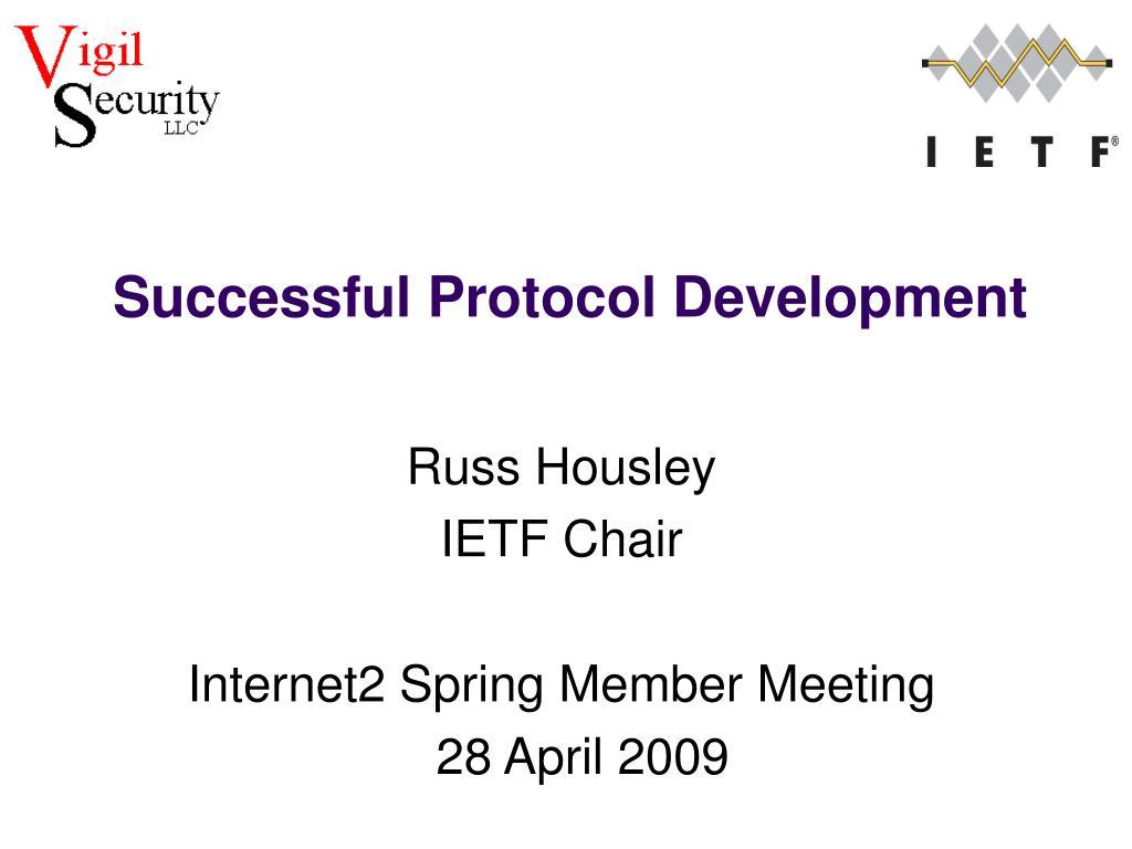 Successful Protocol Development