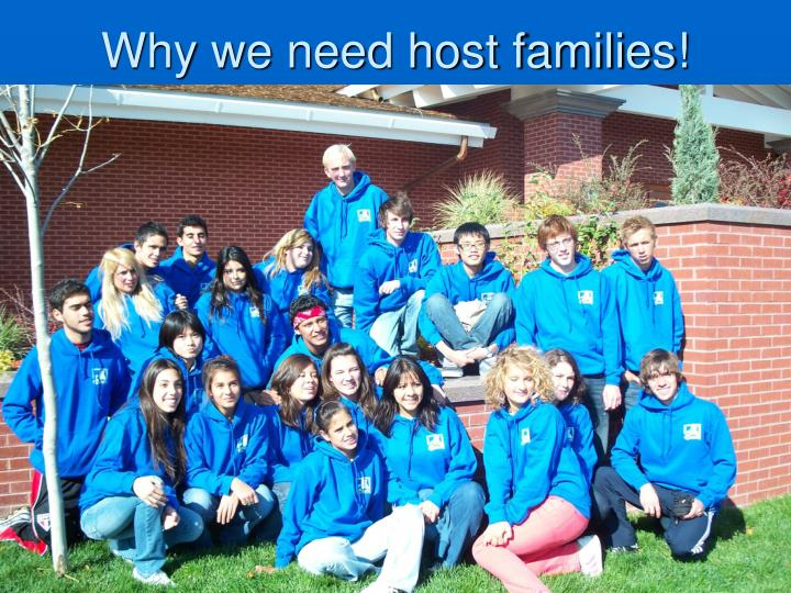 Why we need host families!