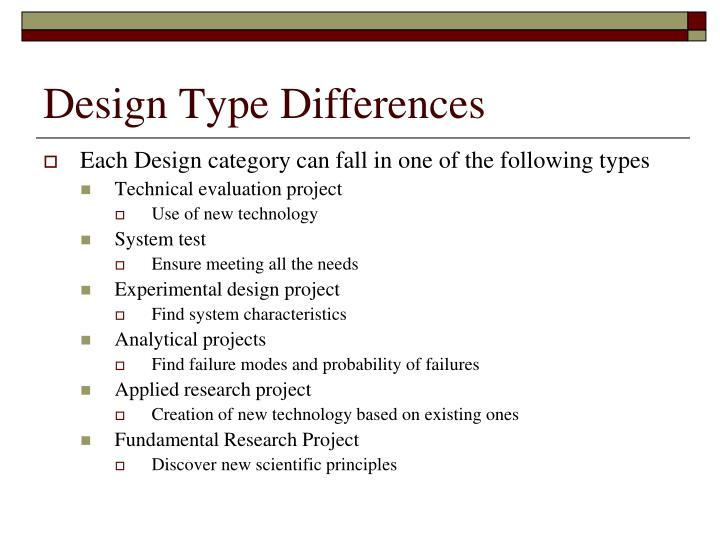 Design type differences