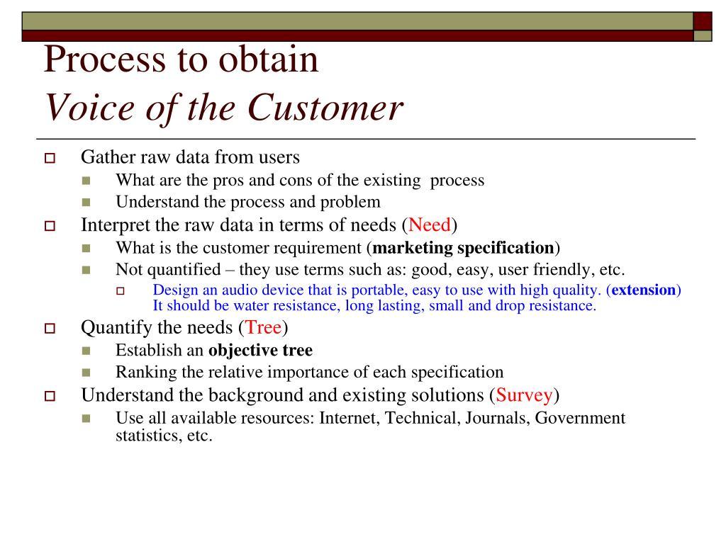 Process to obtain