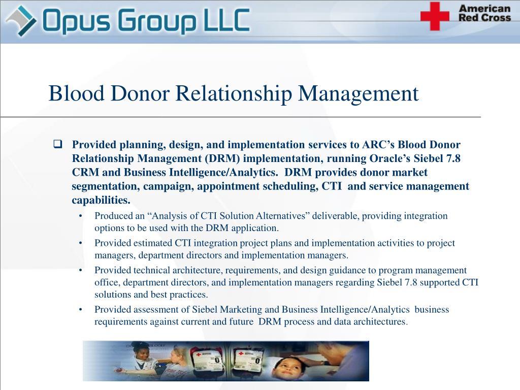 Blood Donor Relationship Management