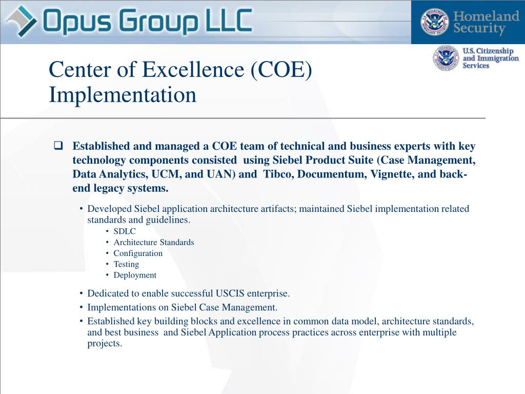 Center of Excellence (COE)