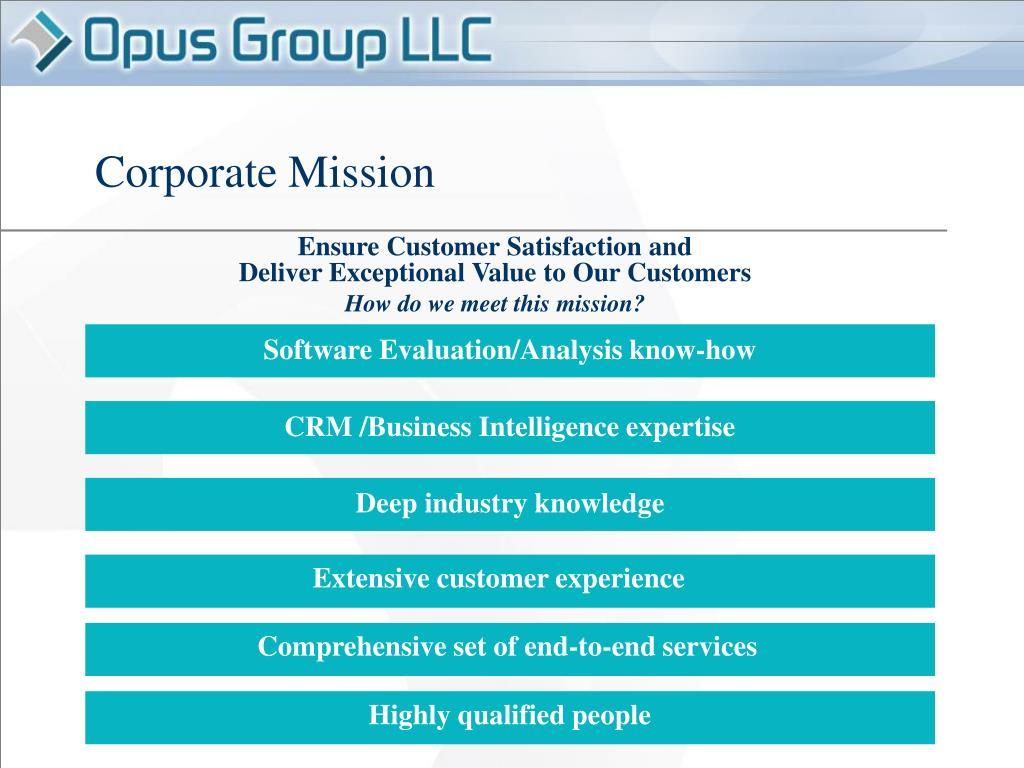 CRM /Business Intelligence expertise