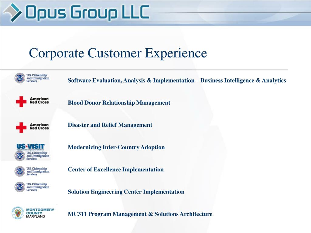 Corporate Customer Experience
