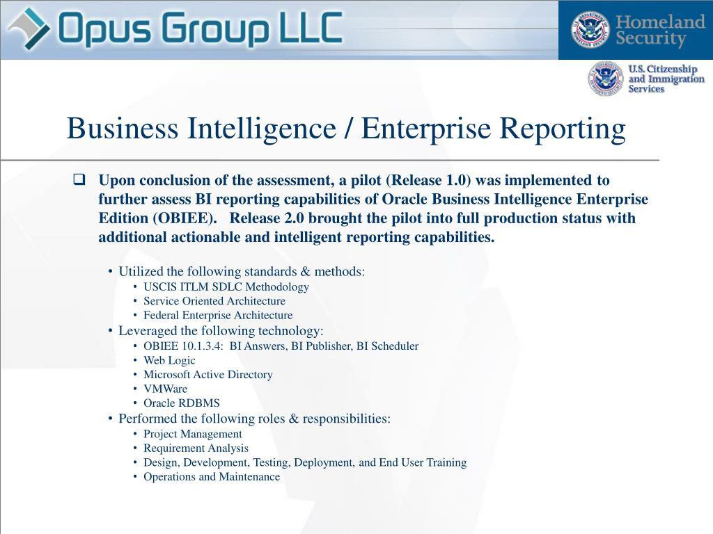 Business Intelligence / Enterprise Reporting