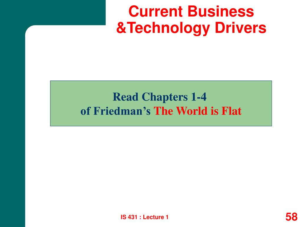 Current Business &Technology Drivers