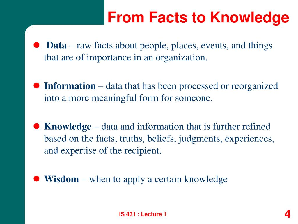 From Facts to Knowledge