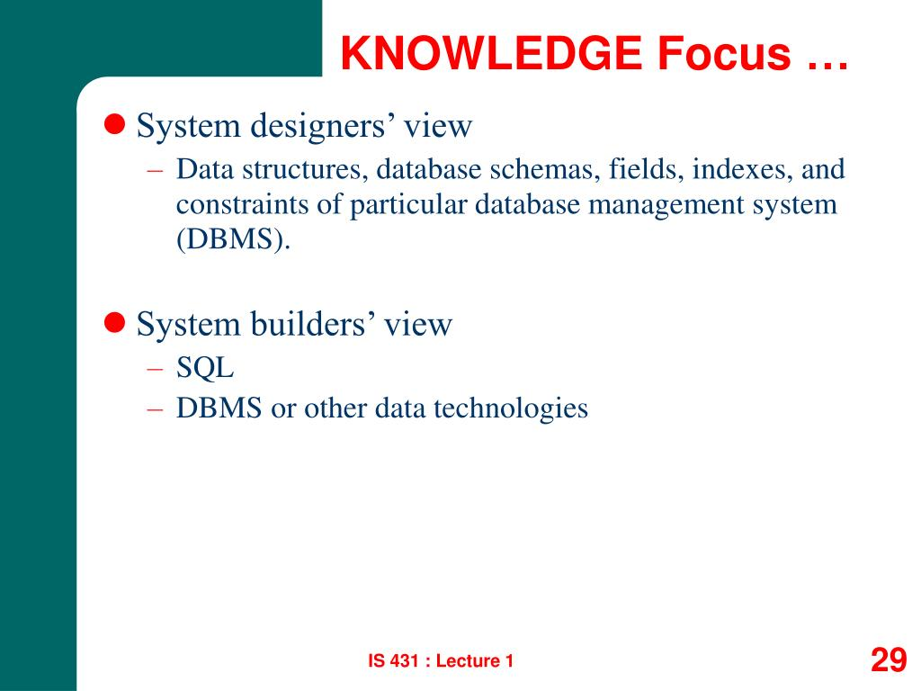 KNOWLEDGE Focus …