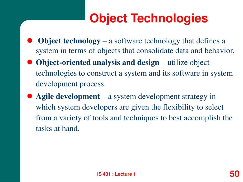 Object Technologies