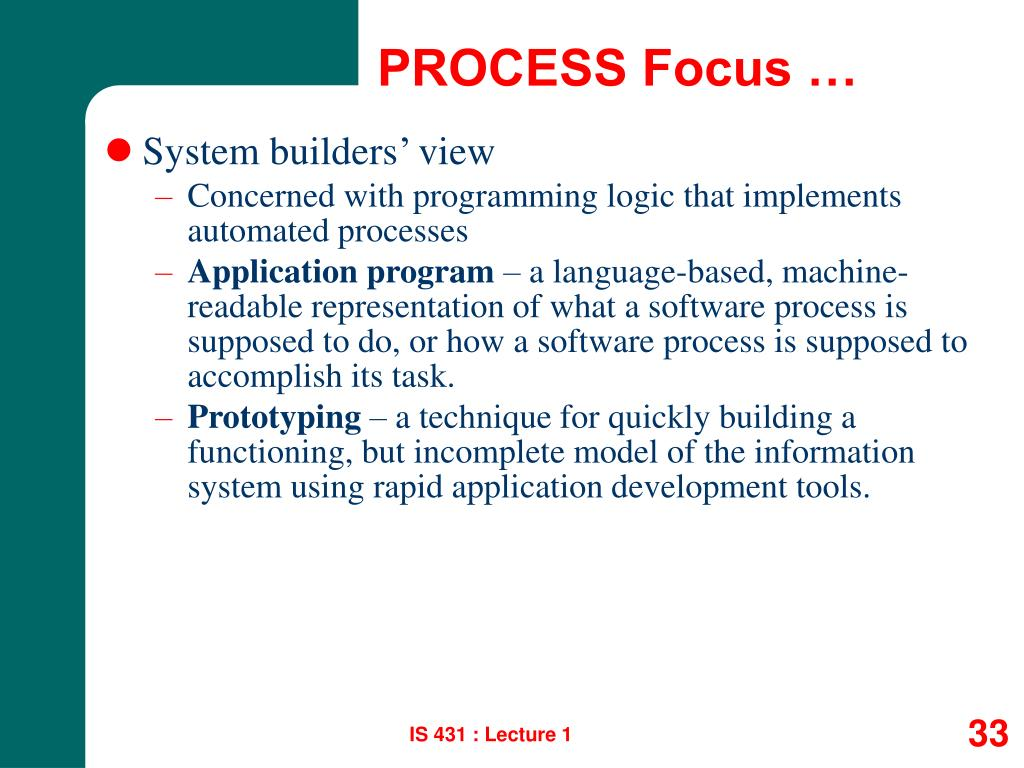PROCESS Focus …