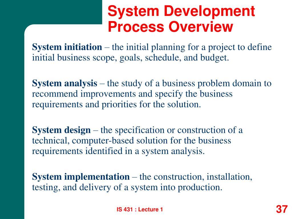 System Development Process Overview