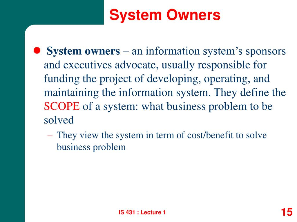 System Owners