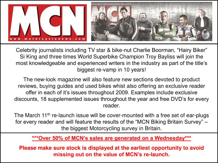"Celebrity journalists including TV star & bike-nut Charlie Boorman, ""Hairy Biker"" Si King and th..."