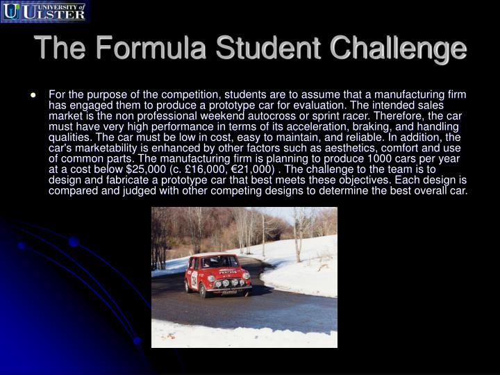 The formula student challenge