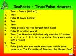 geofacts true false answers