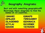 geography anagrams