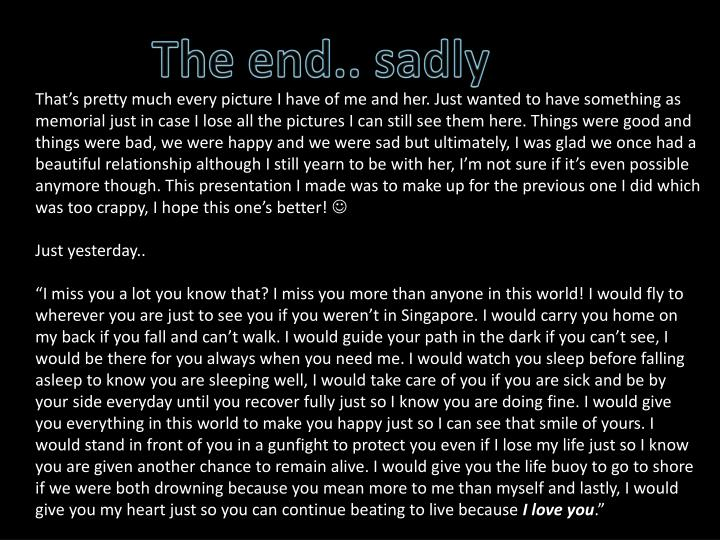 The end.. sadly