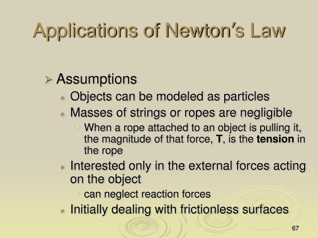 Applications of Newton