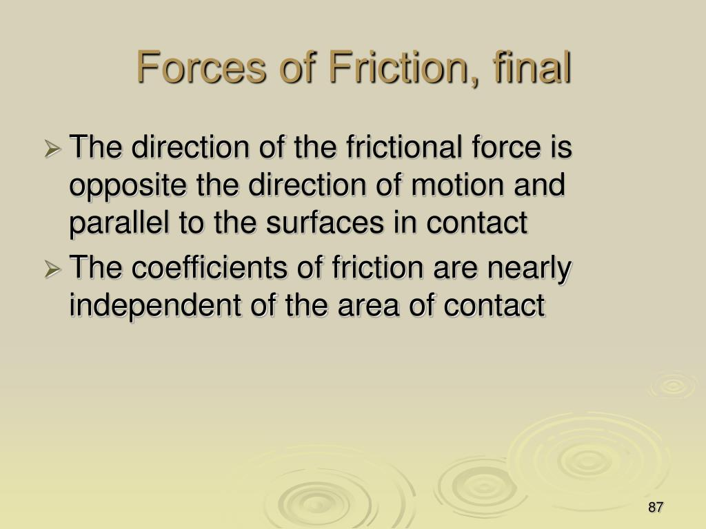 Forces of Friction, final