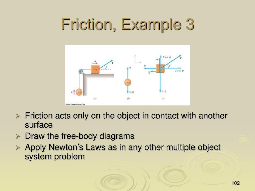 Friction, Example 3