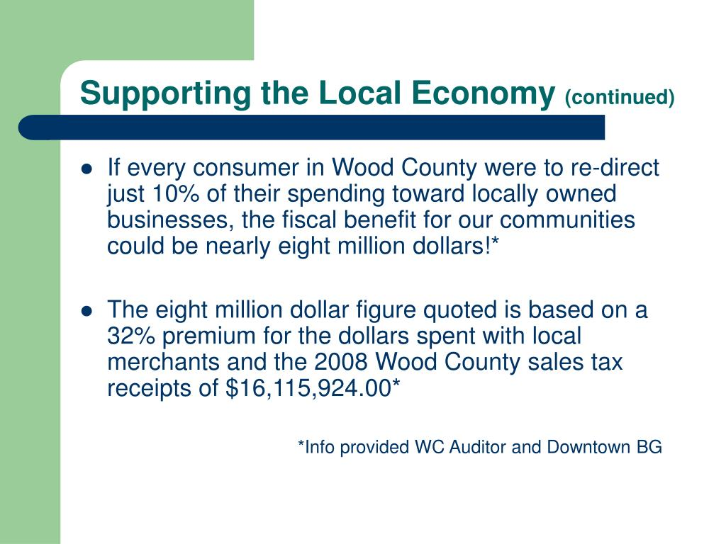 Supporting the Local Economy