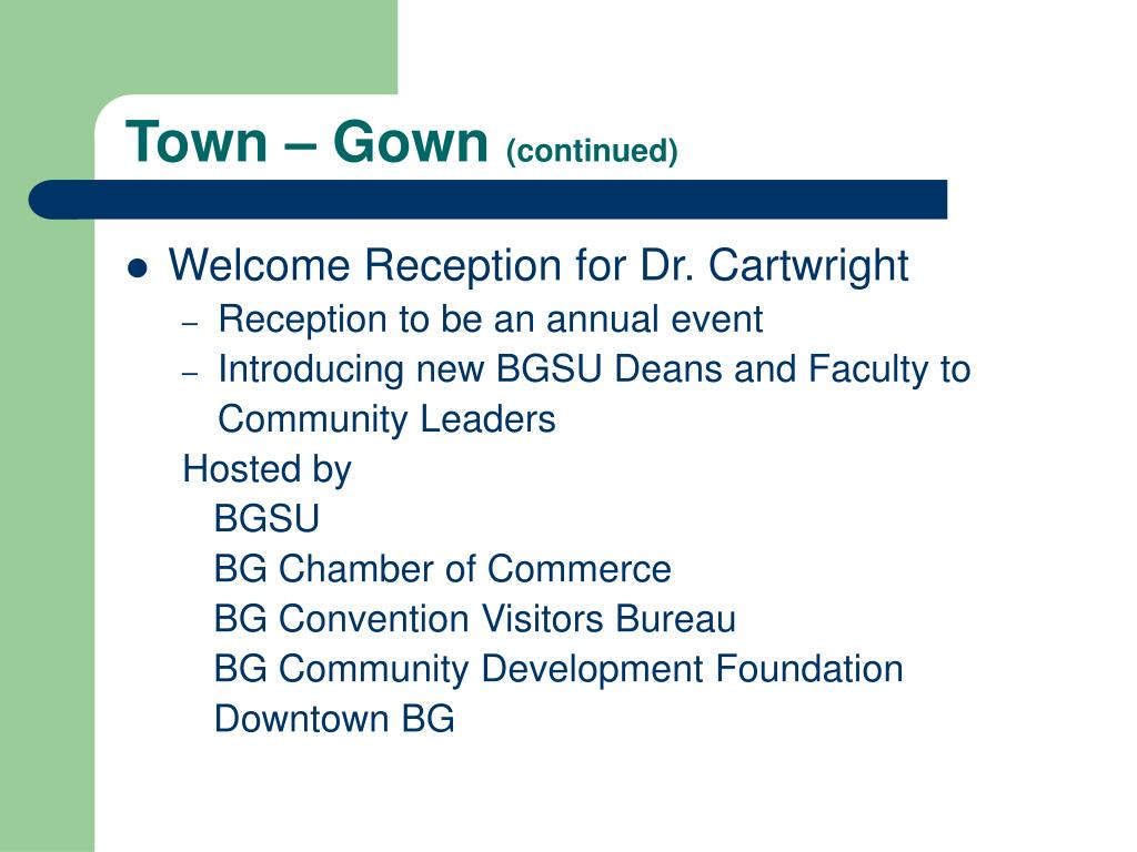 Town – Gown