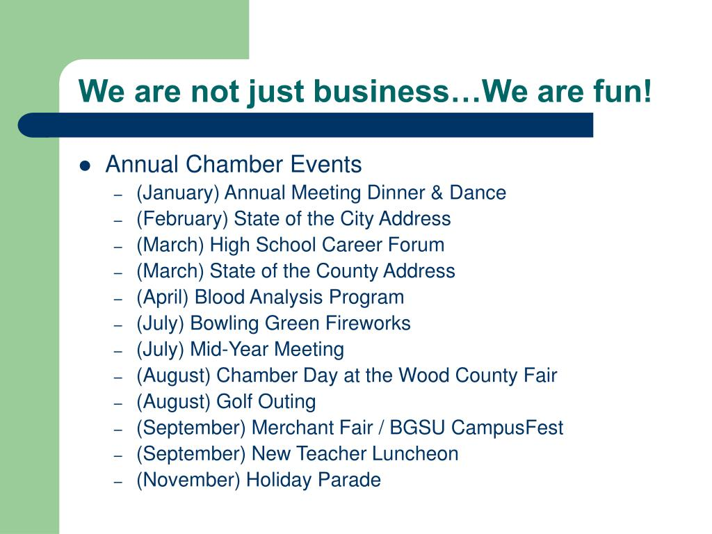We are not just business…We are fun!
